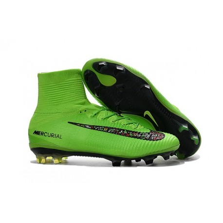 f82c19a9242 Nike Mercurial Superfly 5 FG Cristiano Ronaldo Boots Green Black