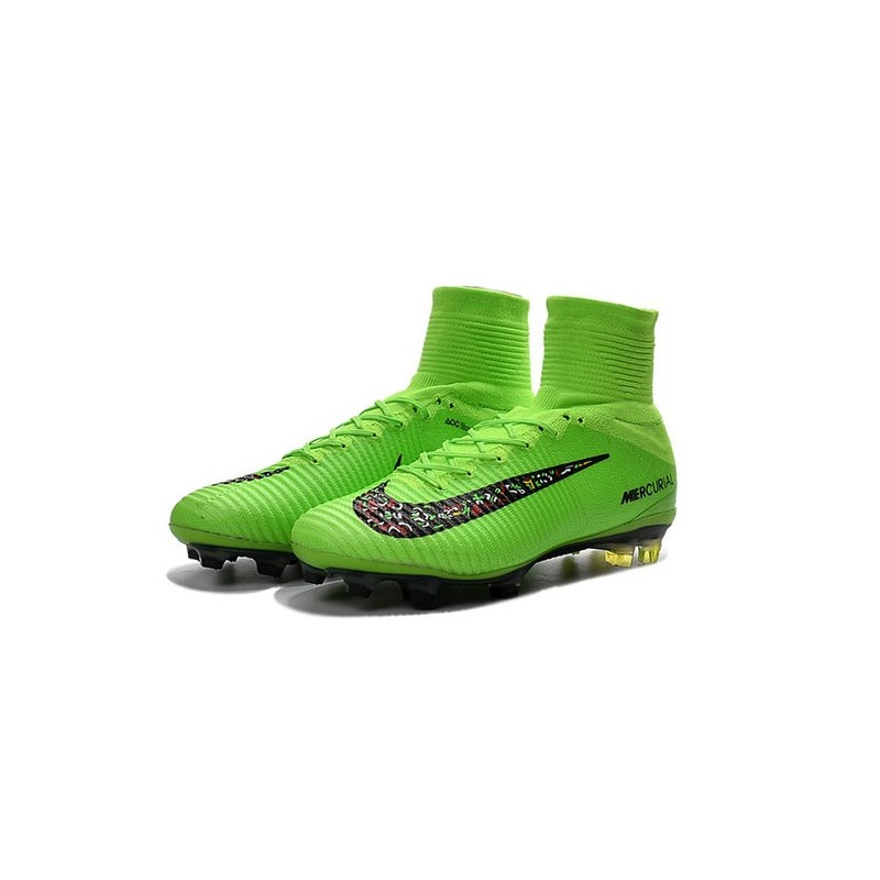 more photos 4733d a5472 Nike Mercurial Superfly 5 FG Cristiano Ronaldo Boots Green Black