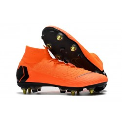 Nike Mercurial Superfly VI Elite SG-Pro AC Boots Orange Black