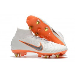 Nike Mercurial Superfly VI Elite SG-Pro AC Boots White Orange