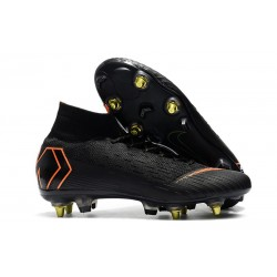 Nike Mercurial Superfly VI Elite SG-Pro AC Boots Black Orange