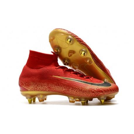 Locura impermeable Contando insectos  Cristiano Ronaldo Nike Mercurial Superfly VI Elite SG-Pro AC Red Black