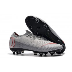 Nike Mercurial Vapor 12 Anti Clog SG-Pro Grey Red