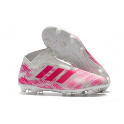 News Adidas Nemeziz 18+ FG Boot - Pink White