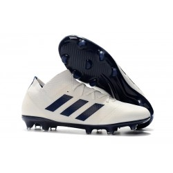 adidas Nemeziz Messi 18.1 FG Soccer Cleats - White Black