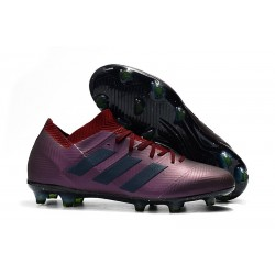 adidas Nemeziz Messi 18.1 FG Soccer Cleats - Purple Black