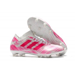 adidas Nemeziz Messi 18.1 FG Soccer Cleats - Pink White