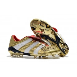 adidas Predator Accelerator FG Mens Cleat - White Gold Red