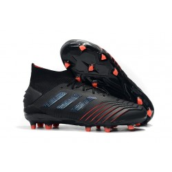 adidas New Predator 19.1 FG Mens Soccer Boots - Black Red