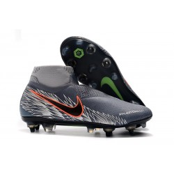 Nike Phantom Vision Elite DF SG-PRO Anti-Clog Gray Silver Black