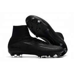 Nike Mercurial Superfly Iv Ronaldo CR7 FG Soccer Shoes All Black