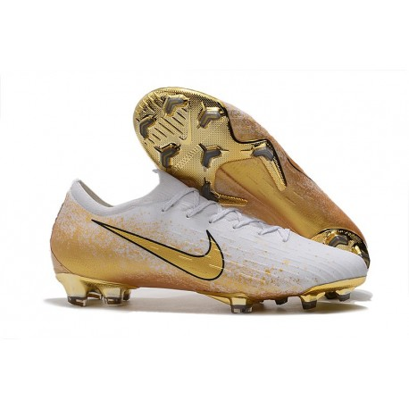 Nike Mercurial Vapor XII Elite FG Firm Ground Cleats - White Gold