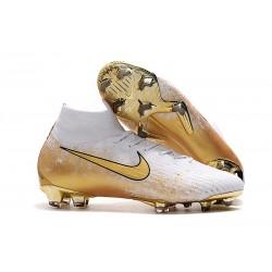 Nike Mercurial Superfly 6 Elite DF FG Boots - Golden White