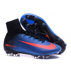 News 2016 Nike Mercurial Superfly FG ACC Cleats Blue Red