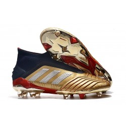 adidas Predator 19+ FG News Soccer Cleat Gold Silver