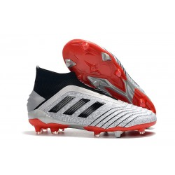 adidas Predator 19+ FG News Soccer Cleat Silver Black Red