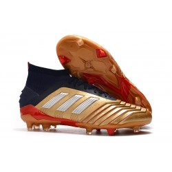 adidas New Predator 19.1 FG Mens Soccer Boots - Gold Red Silver