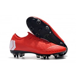 Nike Mercurial Vapor 12 Anti Clog SG-Pro Red White