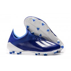 New Soccer Shoes adidas X 19.1 FG Blue White