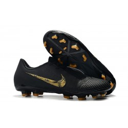 Nike Phantom VNM Elite FG Black Lux - Black/Metallic Vivid Gold