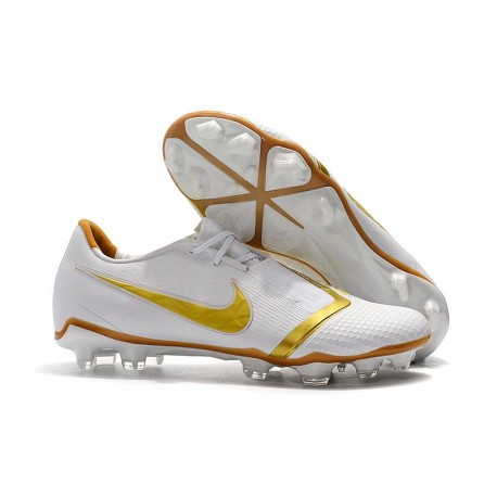 Nike Phantom VNM Elite FG Cleats White Gold