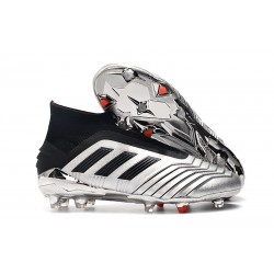 adidas Predator 19+ FG News Soccer Cleat Silver Black