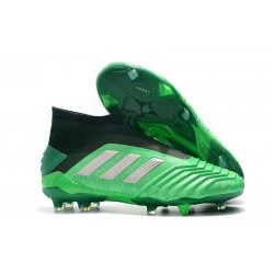 adidas Predator 19+ FG News Soccer Cleat Green Silver
