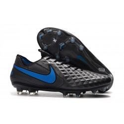 Soccer Cleats Nike Tiempo Legend VIII FG - Black Blue