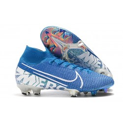 New Nike Mercurial Superfly 7 Elite FG Cleats - Blue Hero White Obsidian