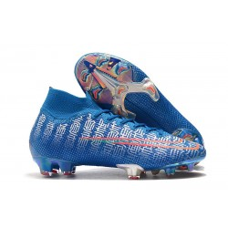 New Nike Mercurial Superfly 7 Elite FG Cleats - Blue Red