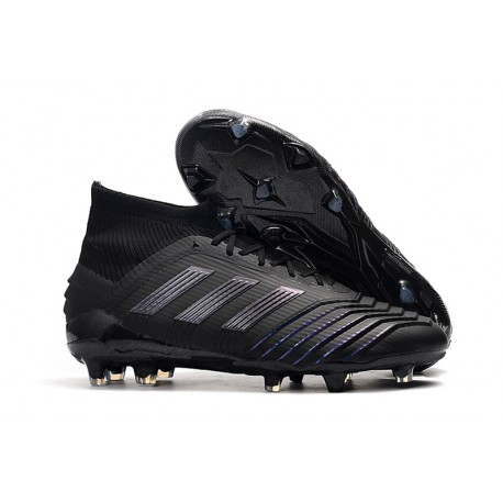 adidas New Predator 19.1 FG Mens Soccer Boots - All Black