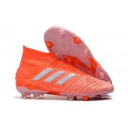 adidas New Predator 19.1 FG Mens Soccer Boots - Orange White
