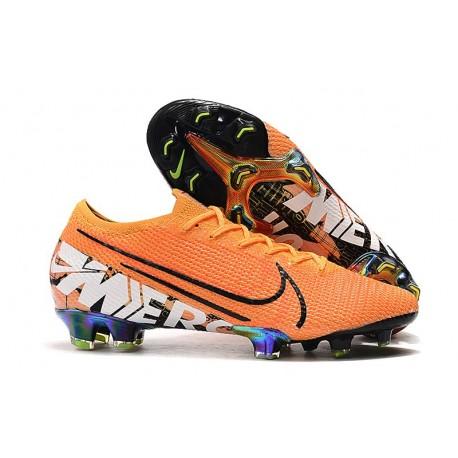 Nike Mercurial Vapor 13 Elite FG Soccer Shoes - Orange Black White