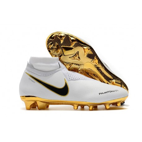 Nike Phantom Vision Elite DF FG Men's Soccer Boots - White Gold