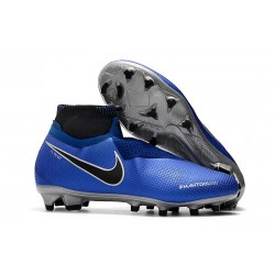 Nike Phantom Vision Elite DF FG Men's Soccer Boots - Blue Black