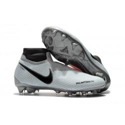 Nike Phantom Vision Elite DF FG Men's Soccer Boots - Gray Red