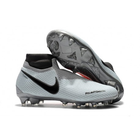 Nike Phantom Vision Elite DF FG Men's Soccer Boots - Gray Red