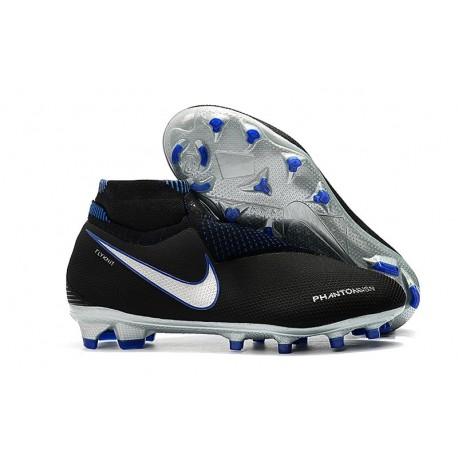 Nike Phantom Vision Elite DF FG Men's Soccer Boots - Black Blue