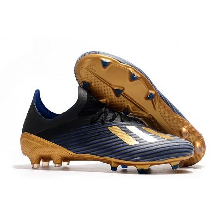 New Soccer Shoes adidas X 19.1 FG Blue Core Black Gold