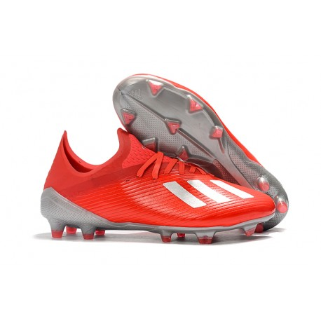 New Soccer Shoes adidas X 19.1 FG Active Red Silver