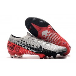 Nike Mercurial Vapor 13 Elite FG Neymar NJR Chrome Black Red Orbit Platinum