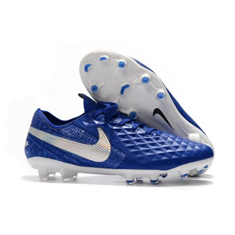 Soccer Cleats Nike Tiempo Legend VIII FG - Hyper Royal White