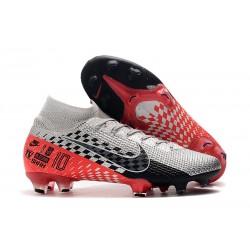 New Nike Mercurial Superfly 7 Elite FG Neymar Chrome/Black/Red