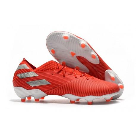 adidas Nemeziz 19.1 FG Firm Ground Cleats Active Red Silver