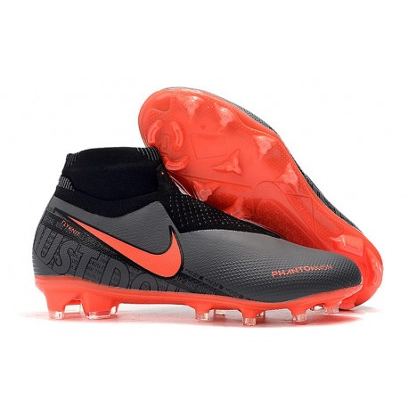 Nike Phantom Vision Elite DF FG New Boot Black Crimson
