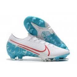 Nike Mercurial Vapor 13 Elite FG Soccer Shoes - White Blue