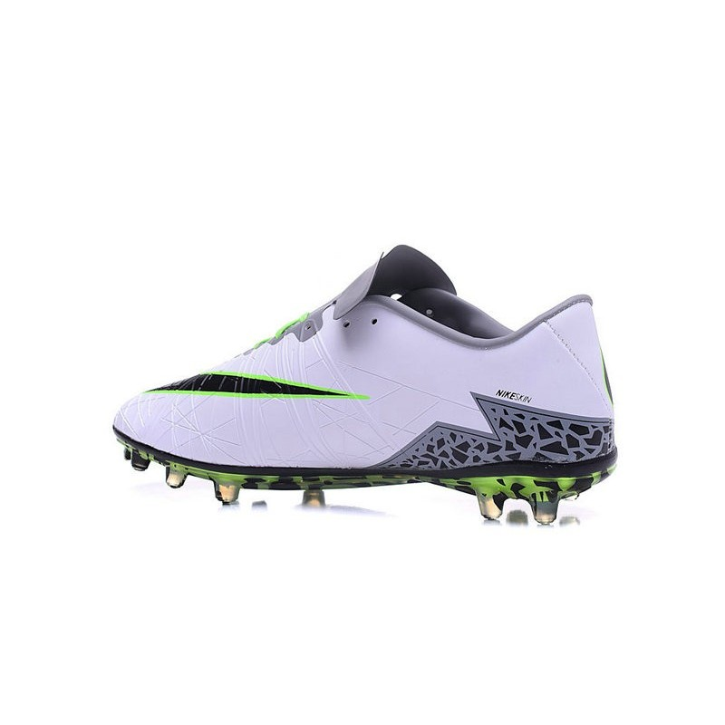more photos f0a9c 62255 Nike Hypervenom Phinish FG Football Boots White Black Green
