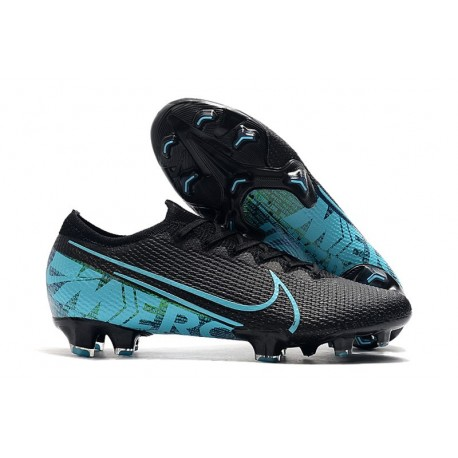 Nike Mercurial Vapor 13 Elite FG Soccer Shoes - Black Blue