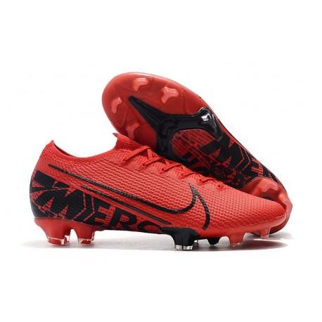 Nike Mercurial Vapor 13 Elite FG Soccer Shoes - Red Black