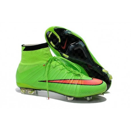 cd6e4a83c96d Nike Mercurial Superfly Iv FG Mens Firm Ground Soccer Cleats Green Hyper  Punch